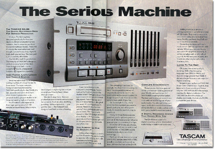 picture of 1994 Tascam ad