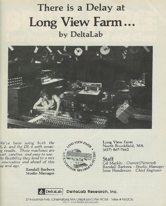 picture of 1980 ad for Delta Lab