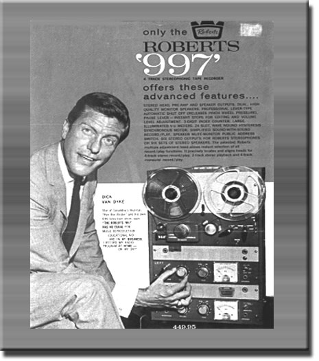 picture of Dick Van Dyke with Roberts 997 recorder