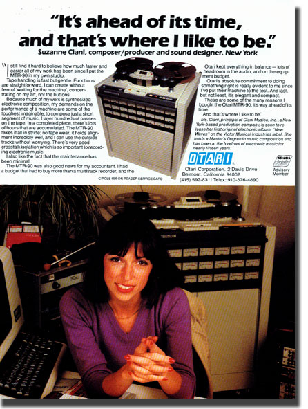 picture of 1982 Otari tape recorder ad