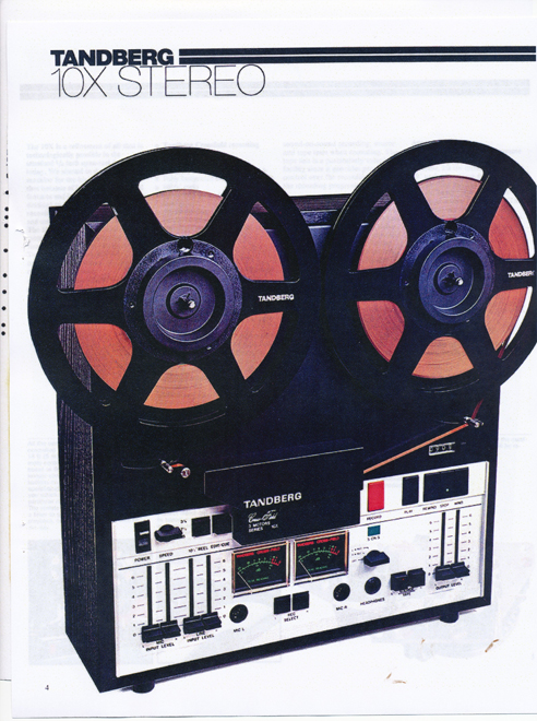 1977 Tandberg 10X tape recorder ad in Reel2ReelTexas' vintage tape recorder collection