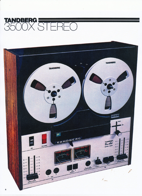 1977 Tandberg 3500X tape recorder ad in Reel2ReelTexas' vintage tape recorder collection