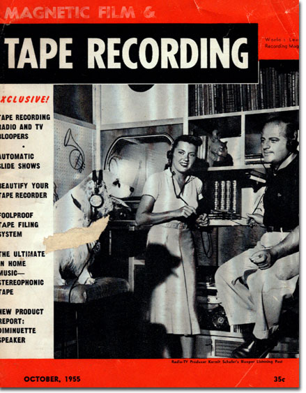picture of cover of 1955 tape Recording magazine