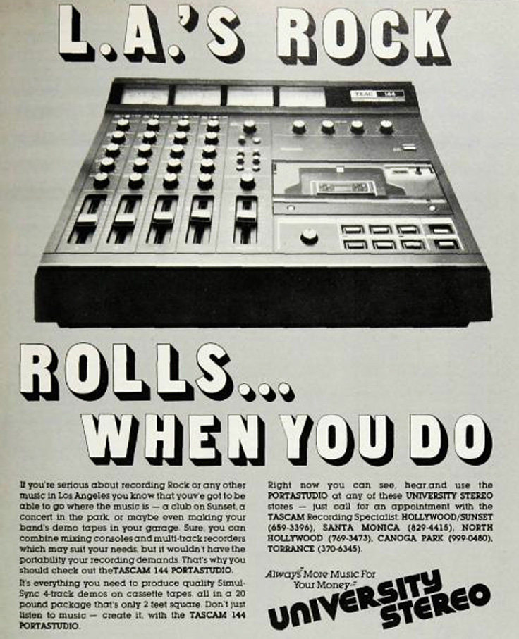 1980 ad for the Teac Porta Studio in   Reel2ReelTexas.com's vintage recording collection