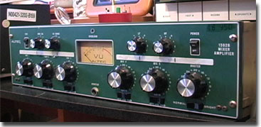 Altec 1592B mixer amplifier in Phantom Productions' vintage recording collection