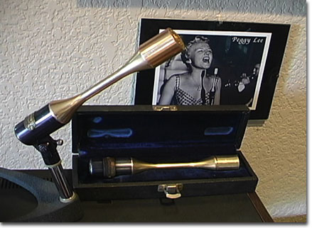 American D22 microphones with Peggy Lee photo in the background