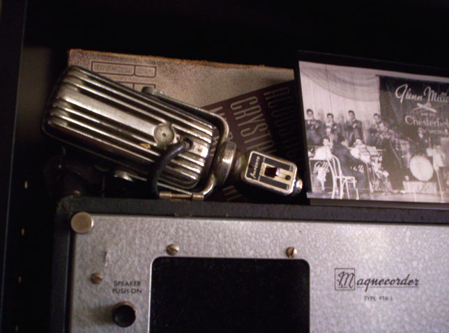 Amperite mic in Reel2ReelTexas' vintage recording collection