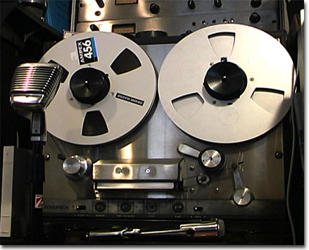 picture of Phantom's Ampex 350 transport reel tape recorder