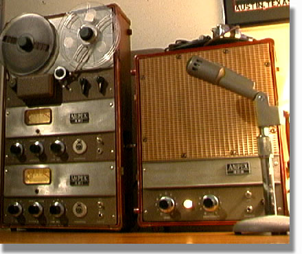 picture of Phantom's Ampex 601-2 reel 1/2 track mastering recorder