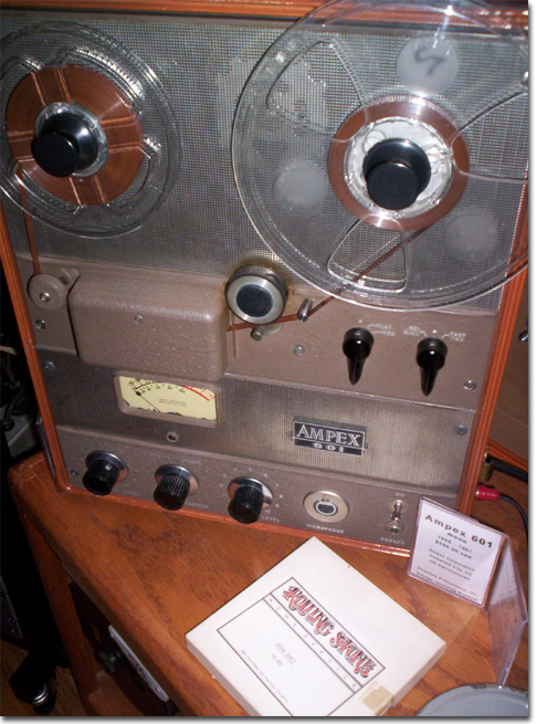 picture of Ampex 601 with Rolling Stone interview with Joan Baezz