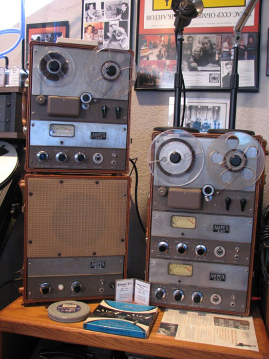 Ampex 601 and 620 in Phantom Productions, Inc.'s vintage reel to reel tape recorder collection