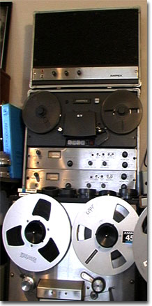 picture of Ampex AA-620 with the Ampex AG500 tape recorder