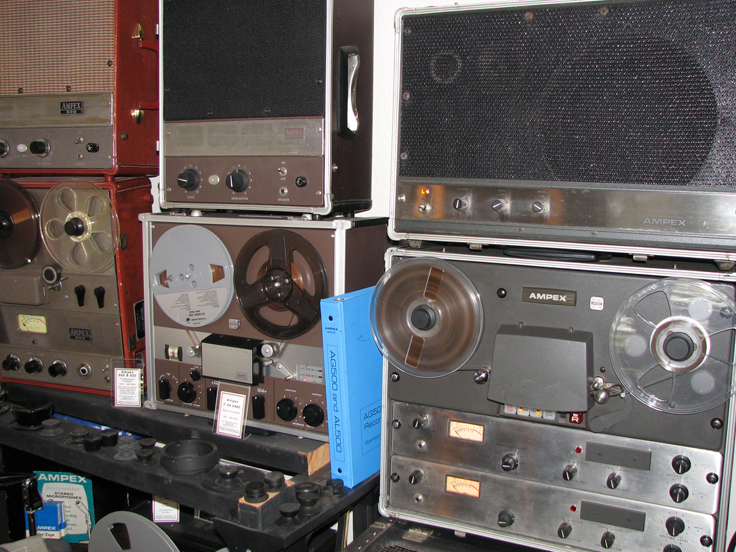 Ampex AG 500 in the Phantom Productions' vintage reel 2 reel tape recorder collection