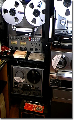 picture of Ampex ATR-700 with other Ampex reel tape recorders