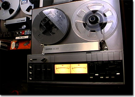 picture of the Ampex AX-300 reel tape recorder