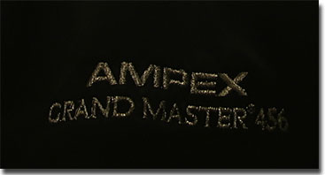 picture of Ampex black satin jacket logos