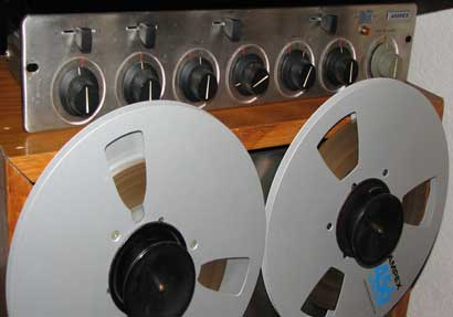 Ampex AM-10 mixer in Phantom Production, Inc.'s vintage reel to reel tape recorder collection