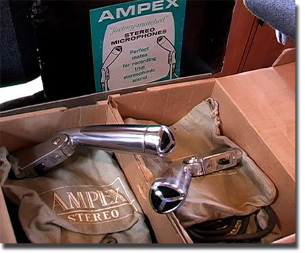 picture of matched pair of Ampex microphones