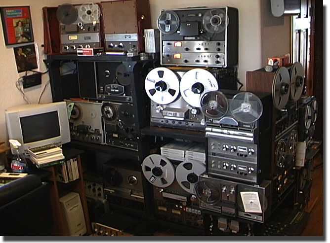 picture of Ampex & Wollensak recorders