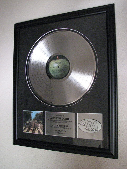 Platinum Award to Apple Records for Abbey Road