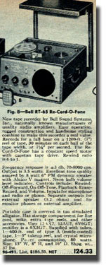 picture of catalog listing for Bell recorder