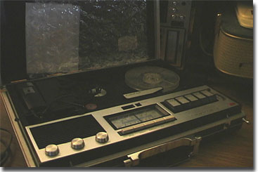 picture of Akai briefcase recorder with radio