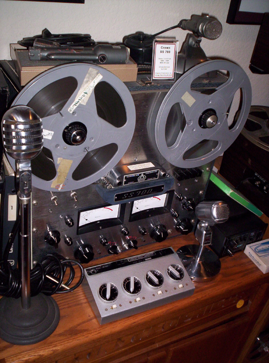 picture of Nagra microphone mixer and Crown tape recorder in Phantom's vintage reel tape recorder collection