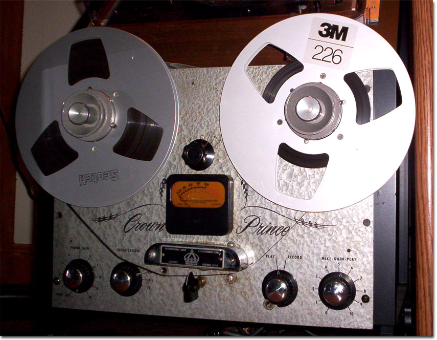 Crown Prince reel tape recorder which is no longer in the Reel2ReelTexas.com's vintage recording collection