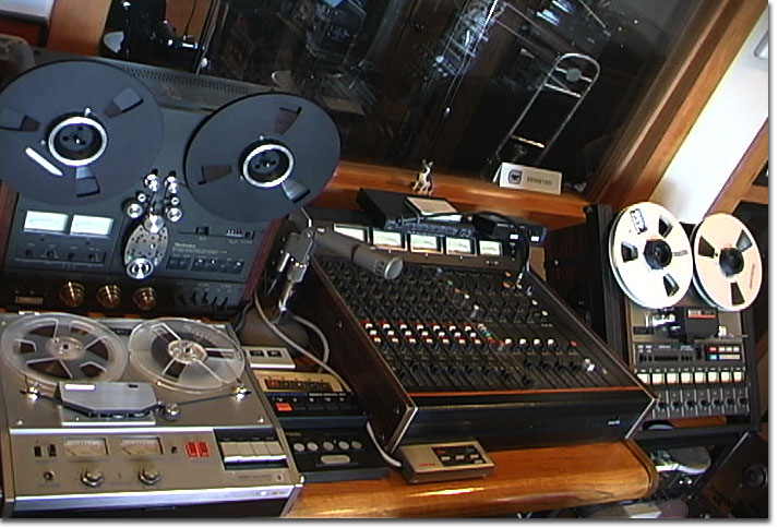 picture of Teac Model 5, Technics RS-1506, Sony 772, Electro Voice 665  & Teac 80-8
