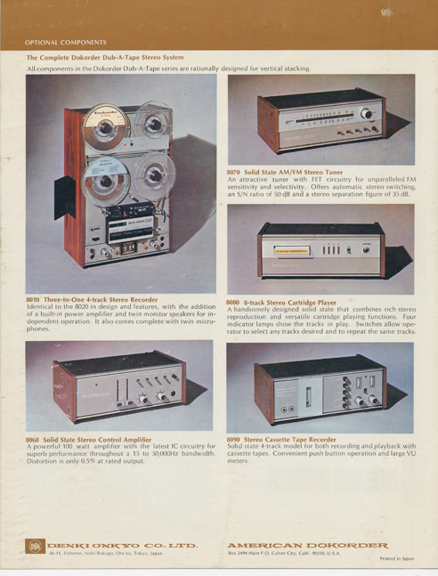 Dokorder 8020 brochure in Reel2ReelTexas.com vintage reel to reel tape recorder collection