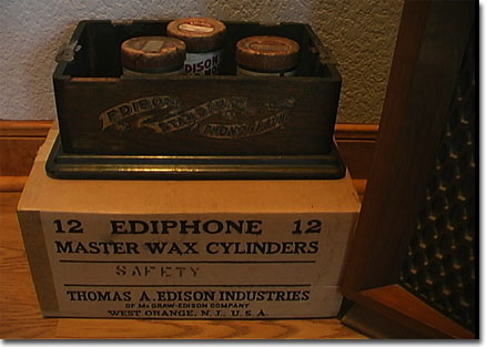 picture of box of blank edison cylinders