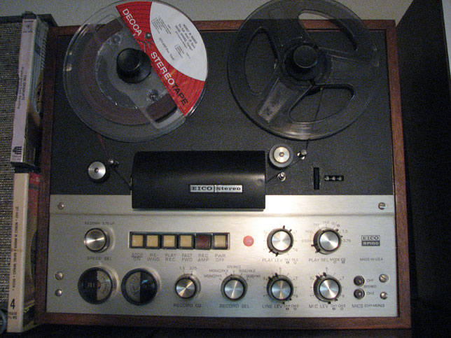 Eico RP 100 tape recorder in Phantom Productions, vintage tape recorder collection