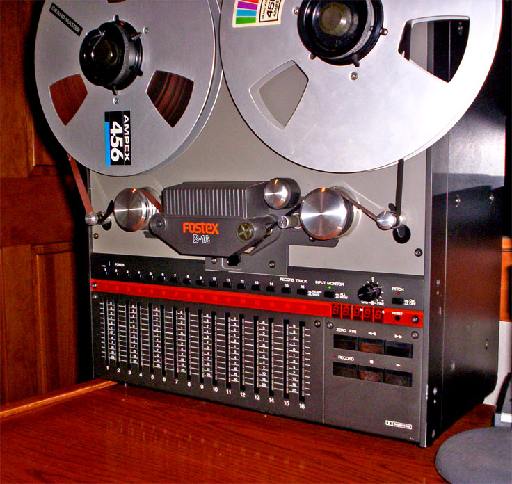 Phantom's Fostex B-16 16 track reel tape recorder