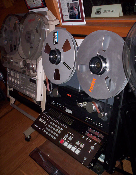 Fostex G-16 reel to reel tape deck in Phantom Productions vintage recording collection