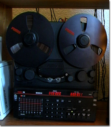 picture of Phantom's Fostex R8 reel tape recorder