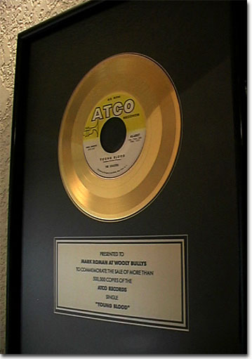 picture of Coasters Gold record Young Blood