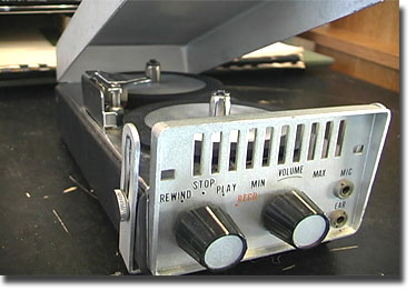 picture of Lloyd's minature tape recorder