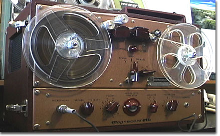 Magnecorder M30, M33 reel to reel tape recorder in the Reel2ReelTexas.com's vintage recording collection