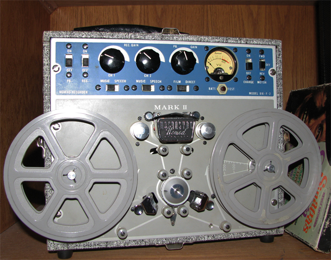 Magnephonis Magnesync Nomad film recorder in the Reel2ReelTexas.com's vintage recording collection