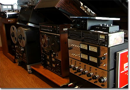 picture of Otari MX-50, Teac A-2340 and Teac mixer, etc. in Phantom Productions' museum