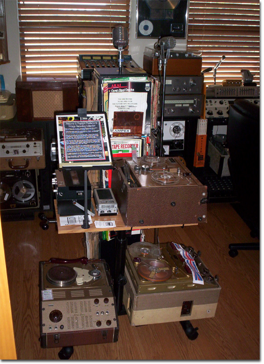 picture of Phantom Productions' reel to reel tape recorder displays in 11/04