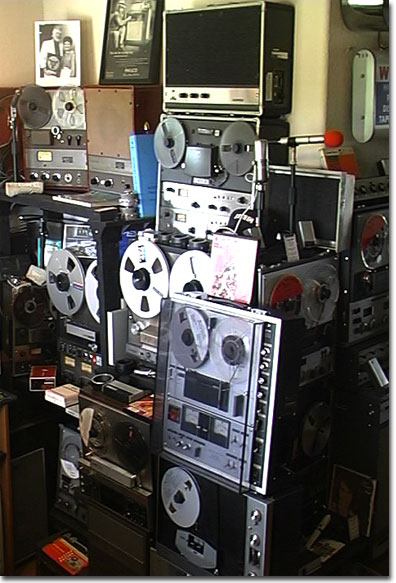picture of Ampex and Sony reel tape recorders in Phantom museum