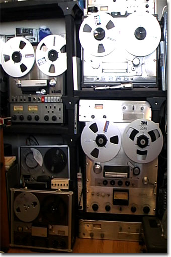 picture of Phantom's Ampex reel tape recorders