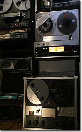picture of Phantom's Ampex 351 reel tape recorder