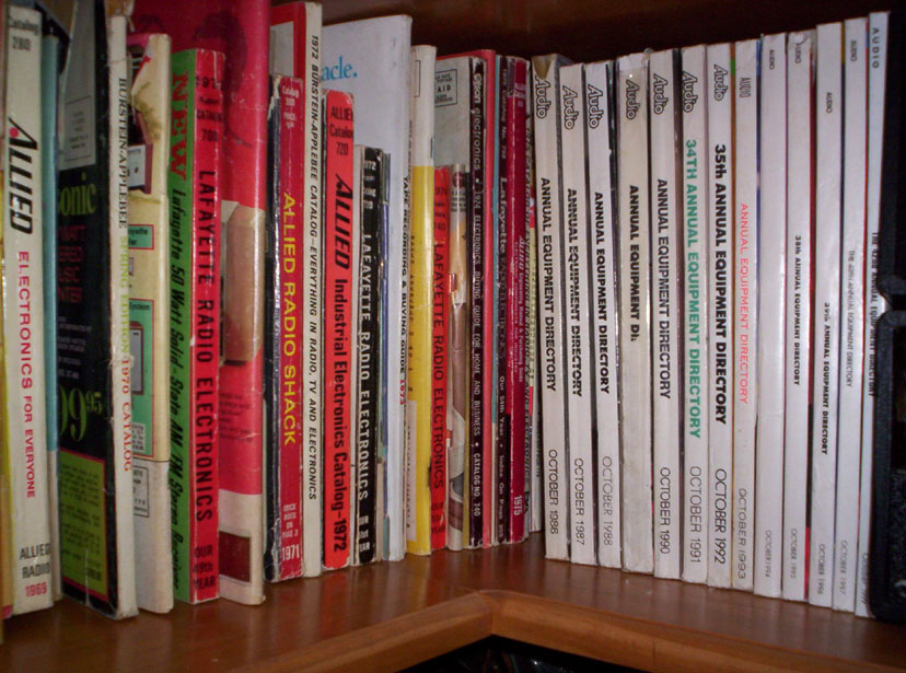 picture of Radio recording catalogs and magazines in Reel2ReelTexas' vintage recording museum