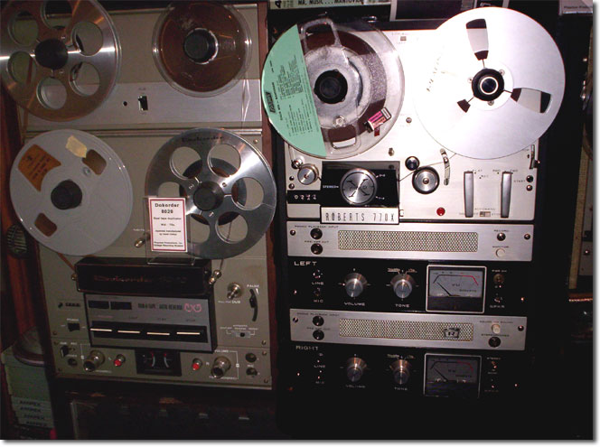picture of reel tape recorders in Phantom's vintage museum