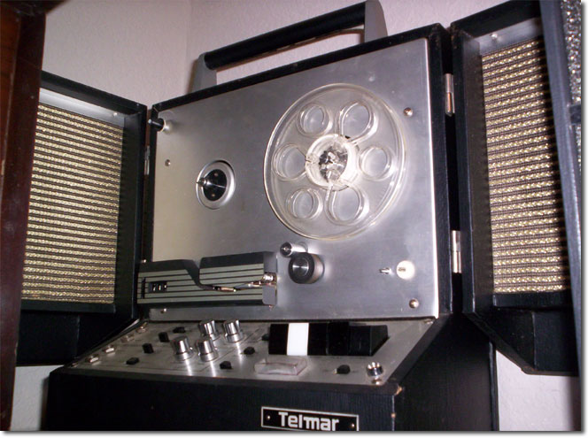 "picture of Telmar all transistor portable 5"" reel tape recorder"