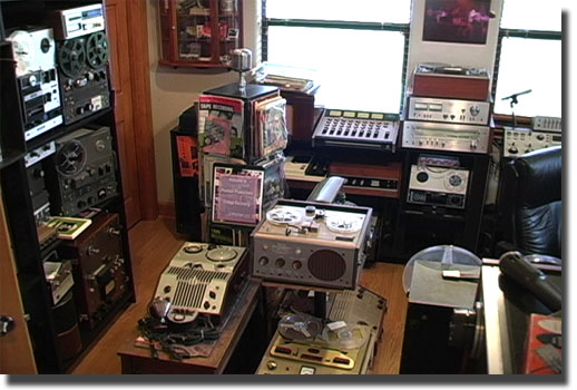picture of Phantom's tape recorder museum