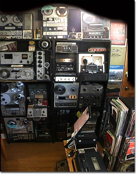 picture of Phantom's vintage reel recorder museum 05/30/04