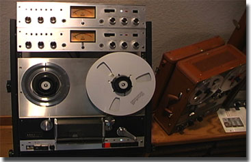 Otari TD7500 reel tape deck with 2 AF-206 recording amplifiers in the Reel2ReelTexas.com's vintage recording collection